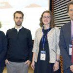 Arantza Fernández-Rivas, Daniel Ilzarbe, Marina Fábregas y Celso Arango, la semana pasada. (Policlínica Gipuzkoa)