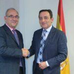 Juan José Rodríguez Sendín, presidente de la Organización Médica Colegial (OMC) y José Antonio López Trigo, presidente de la Sociedad Española de Geriatría y Gerontología (SEGG). (OMC)